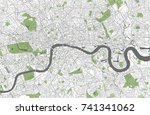 vector map of the city of... | Shutterstock .eps vector #741341062