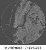 vector map of the new york city ... | Shutterstock .eps vector #741341086
