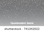 transparent snow. vector... | Shutterstock .eps vector #741342022