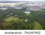 the helicopter shot from dhaka  ... | Shutterstock . vector #741347452