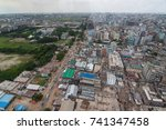 the helicopter shot from dhaka  ... | Shutterstock . vector #741347458
