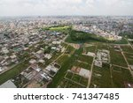 the helicopter shot from dhaka  ... | Shutterstock . vector #741347485