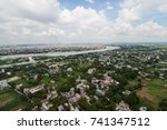 the helicopter shot from dhaka  ... | Shutterstock . vector #741347512