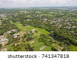 the helicopter shot from dhaka  ... | Shutterstock . vector #741347818