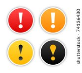 colored attention stickers with ... | Shutterstock .eps vector #74136430