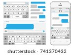 vector phone chat interface.... | Shutterstock .eps vector #741370432