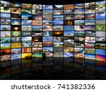 big multimedia video and image... | Shutterstock . vector #741382336