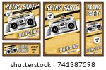 the poster in vintage style on... | Shutterstock .eps vector #741387598