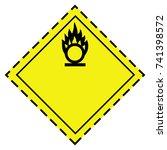 vector illustration ghs hazard...   Shutterstock .eps vector #741398572