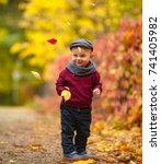 Little Happy Child Boy Wearing...