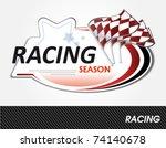 racing sign   vector... | Shutterstock .eps vector #74140678