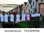 cobh known also as queenstown ... | Shutterstock . vector #741409096