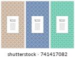set of vertical seamless line...   Shutterstock .eps vector #741417082