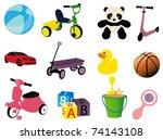 toys | Shutterstock .eps vector #74143108