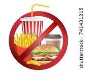fast food danger vector. no...   Shutterstock .eps vector #741431215