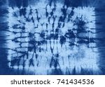 abstract tie dyed fabric of...   Shutterstock . vector #741434536
