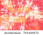 tropical tie dyed abstract... | Shutterstock . vector #741434572