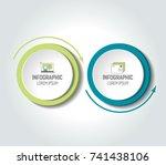 circle  round chart  scheme ... | Shutterstock .eps vector #741438106