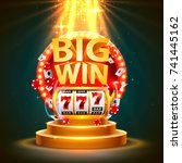big win slots 777 banner casino.... | Shutterstock .eps vector #741445162