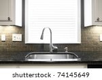a kitchen sink and window... | Shutterstock . vector #74145649