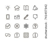 info icon set. collection of... | Shutterstock .eps vector #741457342