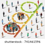 inviting people to the project. ... | Shutterstock .eps vector #741461596