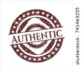 red authentic distressed rubber ... | Shutterstock .eps vector #741463255