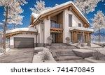 3d rendering of modern cozy... | Shutterstock . vector #741470845