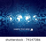 vector abstract background with ... | Shutterstock .eps vector #74147386
