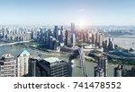 modern metropolis skyline ... | Shutterstock . vector #741478552