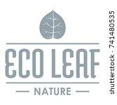 eco organic logo. simple... | Shutterstock .eps vector #741480535