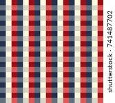 checkered gingham fabric... | Shutterstock .eps vector #741487702