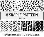set of creative handmade... | Shutterstock .eps vector #741498856