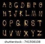 Alphabet Sparklers On Black...