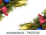 colorful bulbs  spruce and... | Shutterstock . vector #7415110