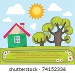 village summer landscape.... | Shutterstock .eps vector #74152336