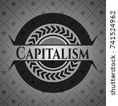 capitalism black badge | Shutterstock .eps vector #741524962
