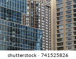 facades and windows of... | Shutterstock . vector #741525826