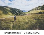 hiking vacations at wild nature ... | Shutterstock . vector #741527692