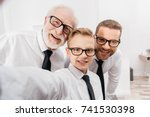 father  son and grandfather... | Shutterstock . vector #741530398