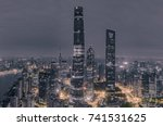 aerial view of skyscrapers at... | Shutterstock . vector #741531625