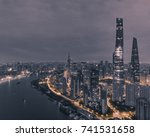 aerial view of skyscrapers at... | Shutterstock . vector #741531658