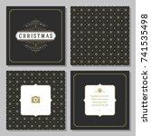 christmas greeting card vector... | Shutterstock .eps vector #741535498