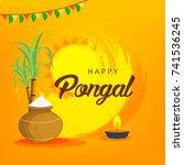 illustration of happy pongal...   Shutterstock .eps vector #741536245
