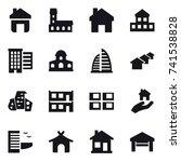 16 vector icon set   home ... | Shutterstock .eps vector #741538828