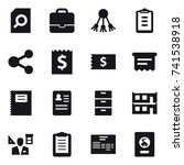 16 vector icon set   search... | Shutterstock .eps vector #741538918