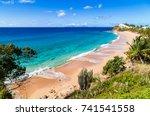 beautiful dream beach on...   Shutterstock . vector #741541558