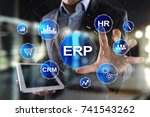 enterprise resources planning... | Shutterstock . vector #741543262