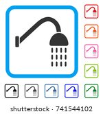 shower icon. flat gray iconic...