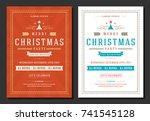 christmas party invitation... | Shutterstock .eps vector #741545128